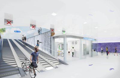 Ondergrondse fietsenstalling station - Zwolle